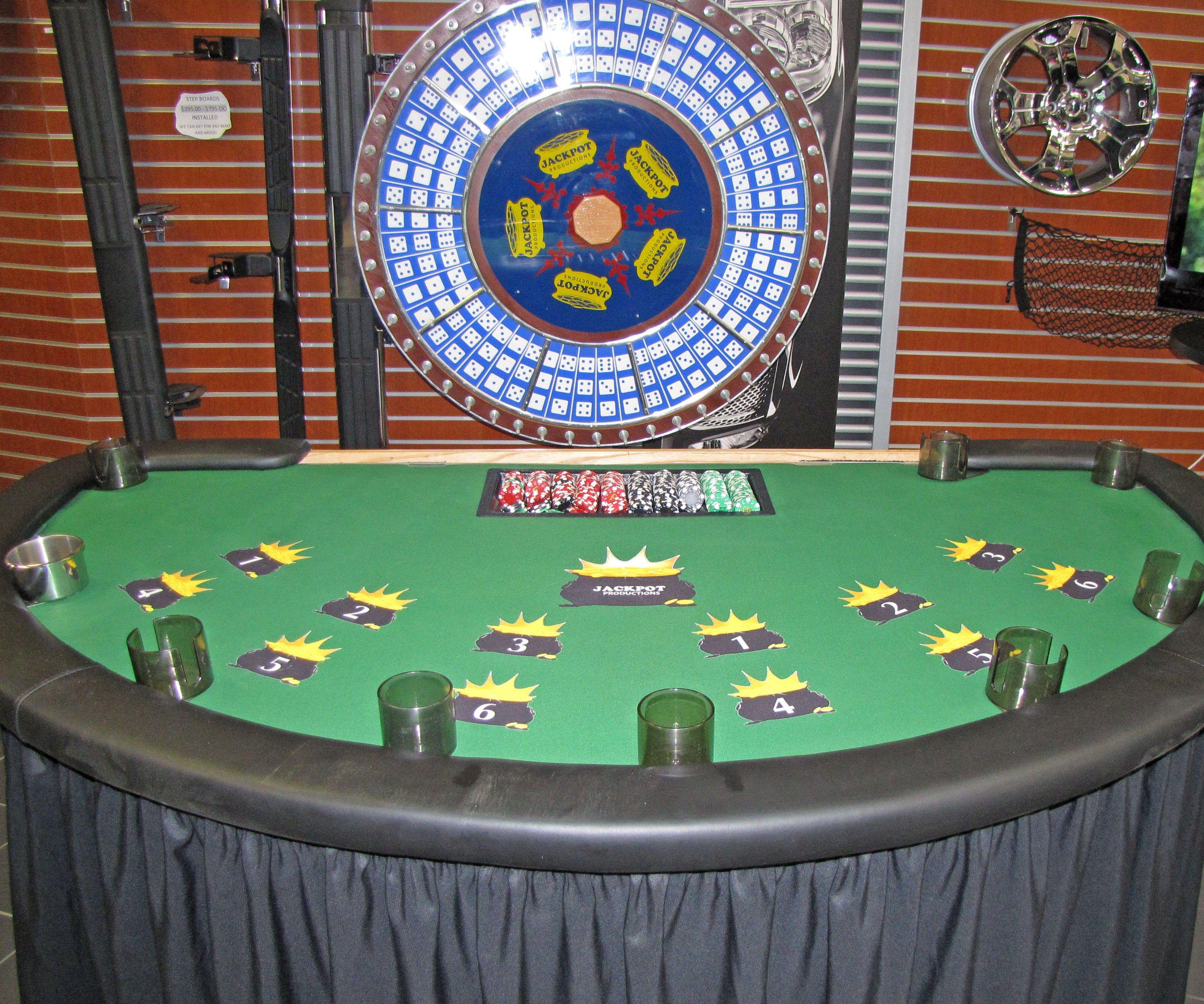 Big 6 Wheel Game used for Casino Night / Las Vegas Parties
