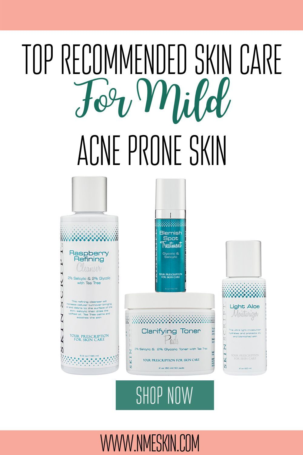 The Top Recommended Skin Care For Mild Acne Prone Skin In 2020 Mild Acne Acne Kits Professional Skin Care Products