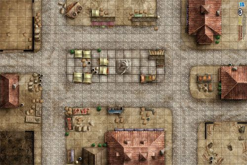 Market Square Game Mat (72753) | Maps | Pathfinder maps