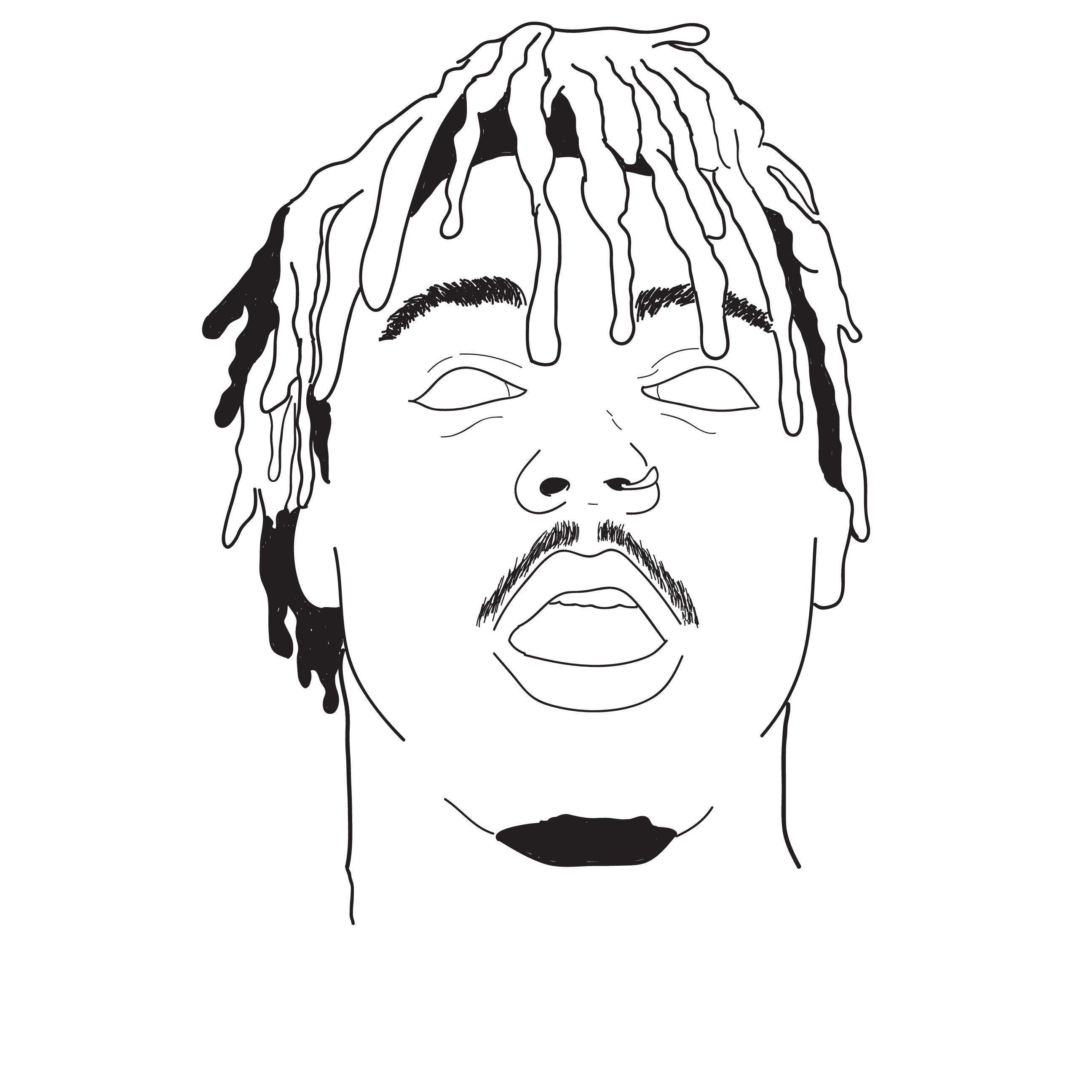 JUICE WRLD Rapper art, Art, Drawings