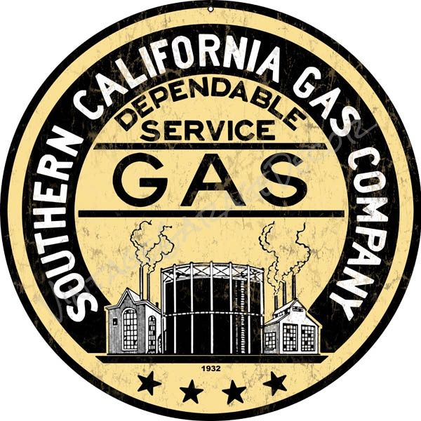 "Vintage Style "" Southern California Gas Company"