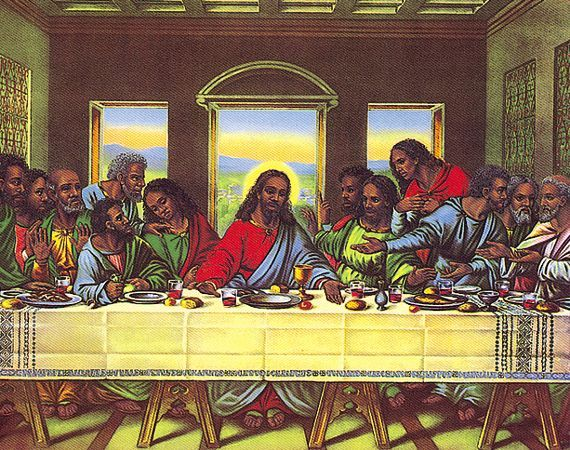 African American Couples Art Last Supper Black Miscellaneous