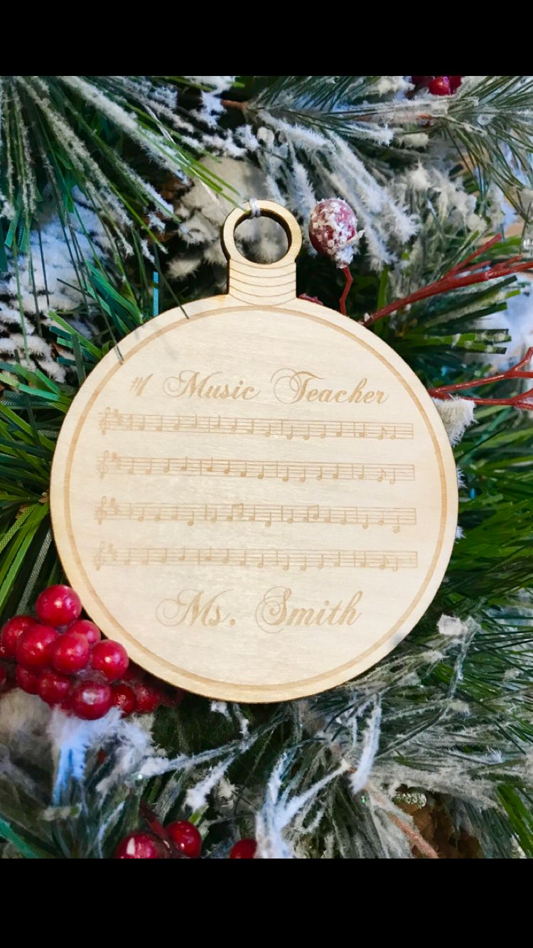 Christmas ornamentlaser engraved personalized music