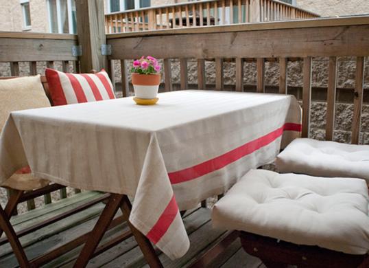 Paint a Dropcloth for a DIY Tablecloth