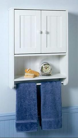 Small Bathroom Cabinet With Towel Bar, Small Cabinets For Bathroom Wall
