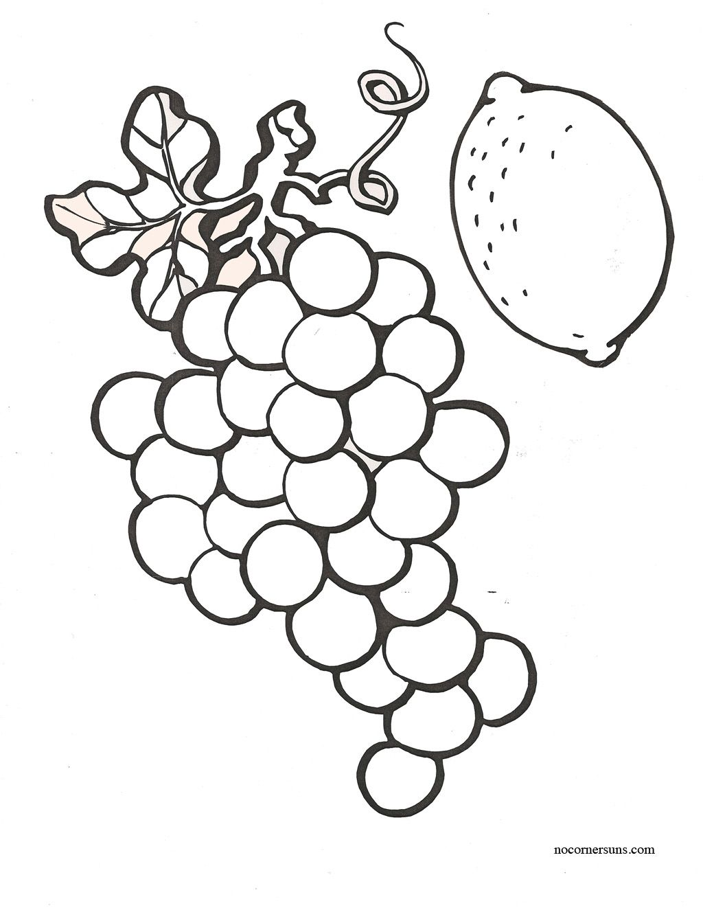 Fruit color and cut pages. | Coloring Pages | Pinterest | Craft