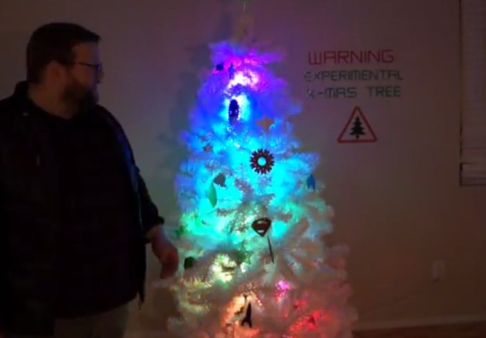 Arduino Powered Christmas Tree Created With 3d Printed Ornaments Video
