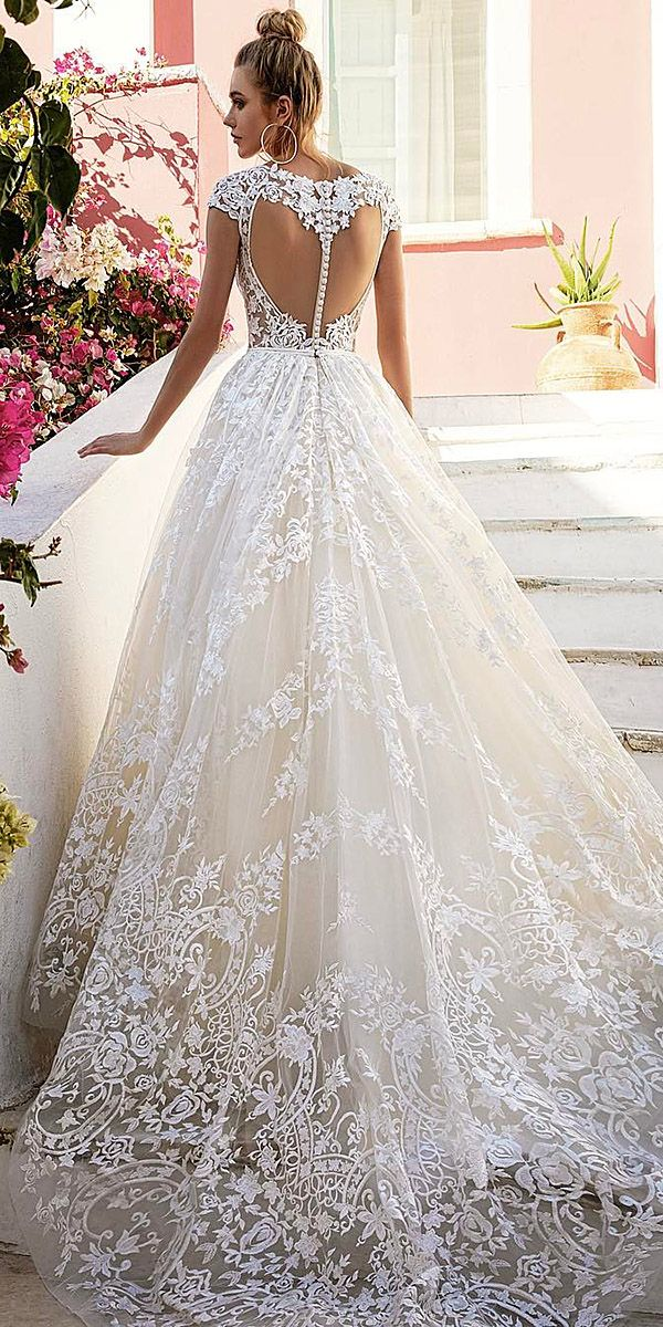 24 Lace Ball Gown Wedding Dresses You Love | Pinterest | Lace ball ...