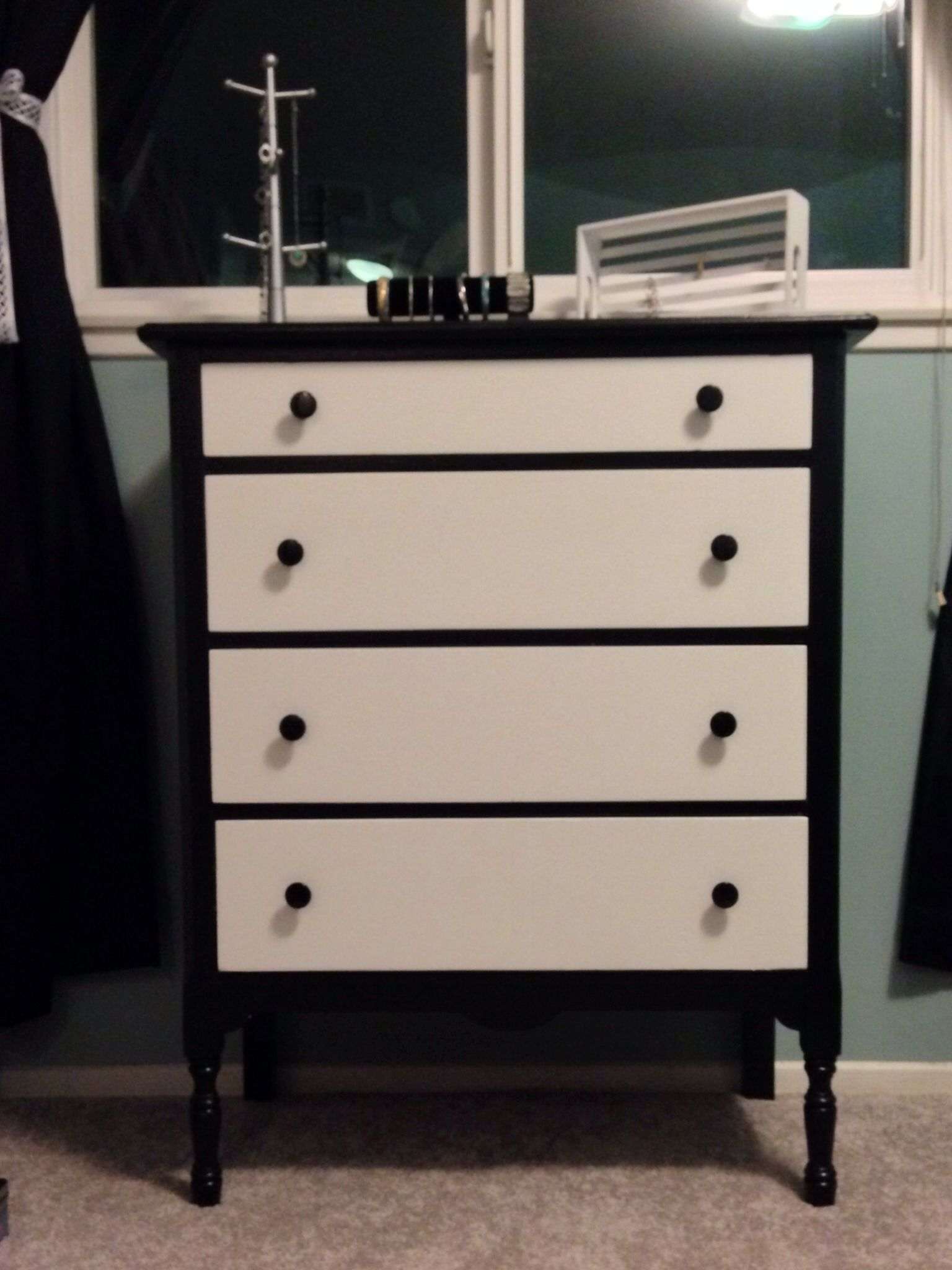black and white dresser things i could put in my house pinterest dresser bedrooms and room. Black Bedroom Furniture Sets. Home Design Ideas