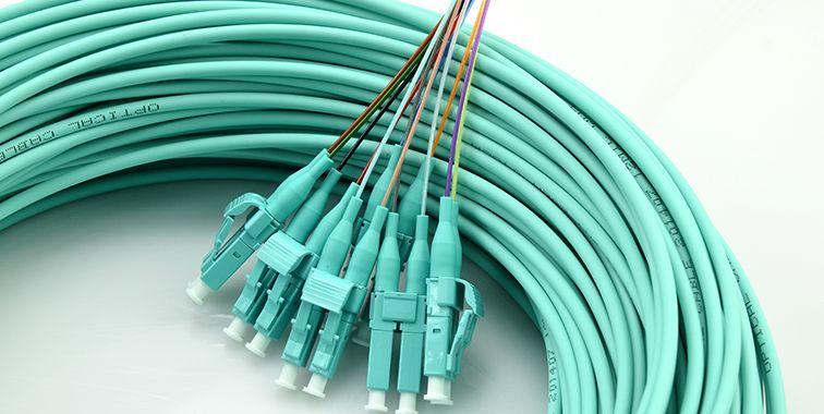 12-Fiber 50/125 10G OM4 Multimode Ribbon Fan-out LC/UPC