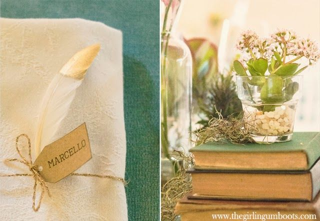 The Girl in Gumboots photography and echevaria and vintage books
