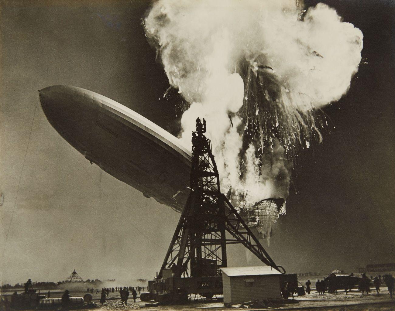 Charles Hoff, Explosion of the Hindenburg, Lakehurst New Jersey, May 6, 1937
