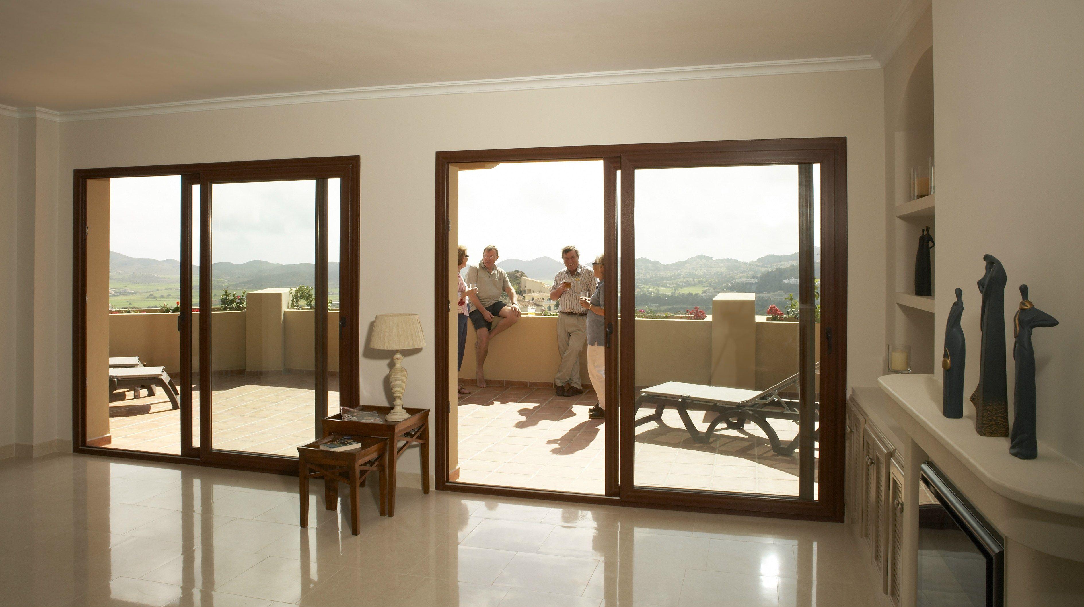 bodentiefe schiebeelemente wohnideen. Black Bedroom Furniture Sets. Home Design Ideas