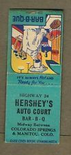 Matchbook for Hershey's Auto Court & BBQ located midway between Manitou Springs and Colorado Springs, CO #manitousprings Matchbook for Hershey's Auto Court & BBQ located midway between Manitou Springs and Colorado Springs, CO #manitousprings Matchbook for Hershey's Auto Court & BBQ located midway between Manitou Springs and Colorado Springs, CO #manitousprings Matchbook for Hershey's Auto Court & BBQ located midway between Manitou Springs and Colorado Springs, CO #manitousprings Matchbook for He #manitousprings