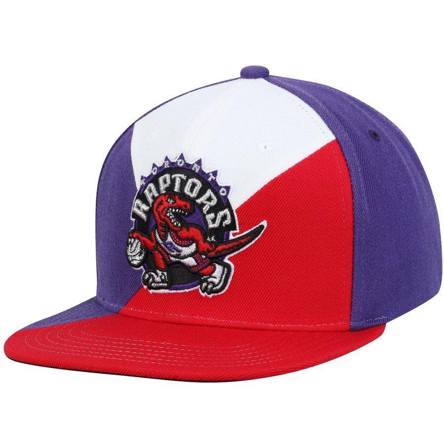 d7b71507887 Men's Toronto Raptors Mitchell & Ness Purple/Red Quadriga Adjustable  Snapback Hat #Mitchell#Ness#Raptors