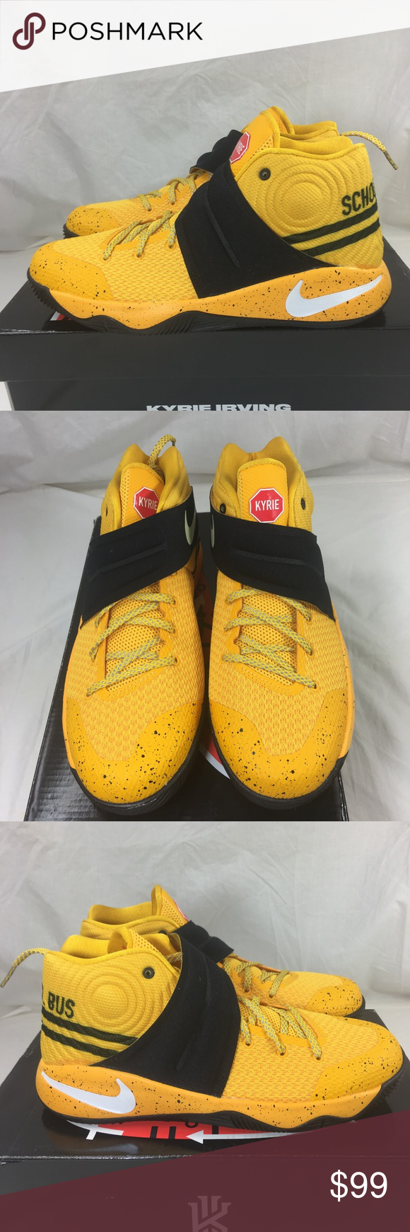 6d2a73b400c0 Nike Air Kyrie 2 Back to School Basketball Shoe Nike Air Kyrie 2 GS  Basketball Shoes Back To School Bus Bus Yellow Nike Ser.  826673-700 Multi  sizes Brand ...
