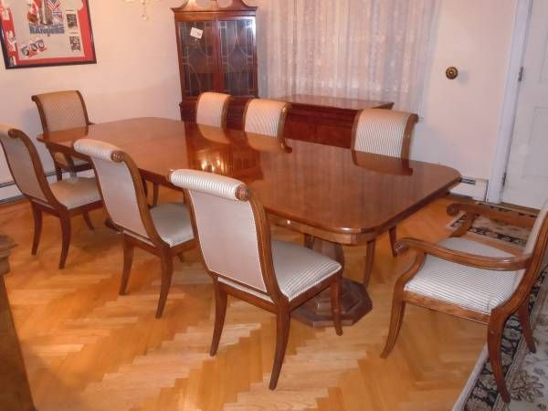 HENREDON DINING SET - $2995 We have an eleven (11) piece all wood ...