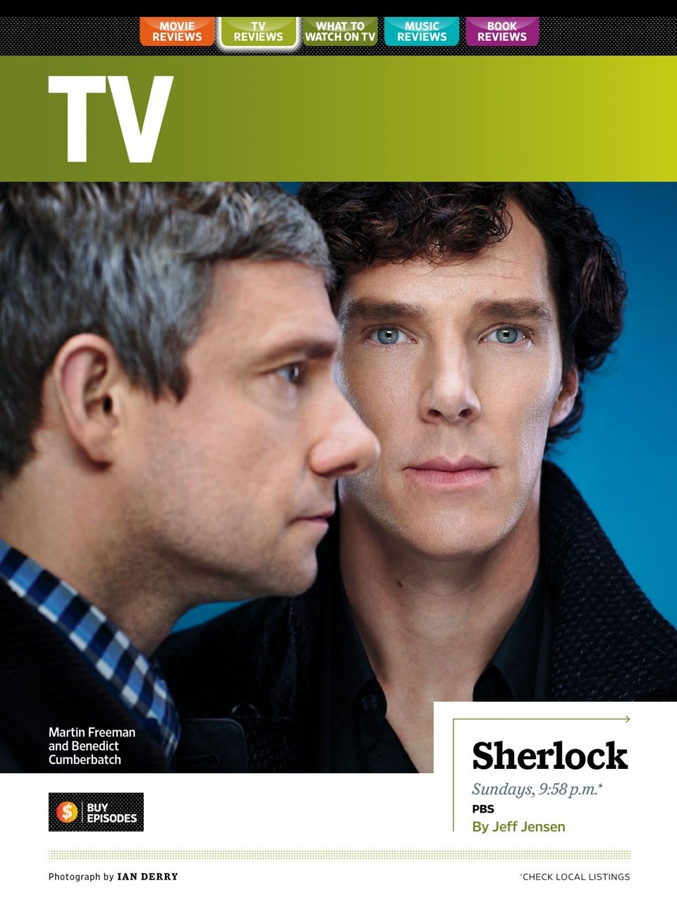 Entertainment Weekly review #sherlock #benedictcumberbatch #martinfreeman