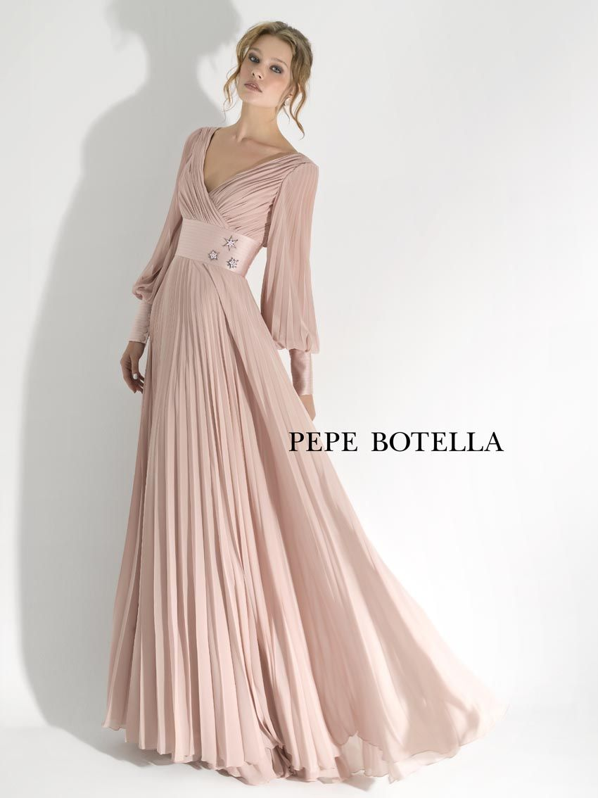 Vestido de gasa plisado | vestidos a y g | Pinterest | Vestido de ...