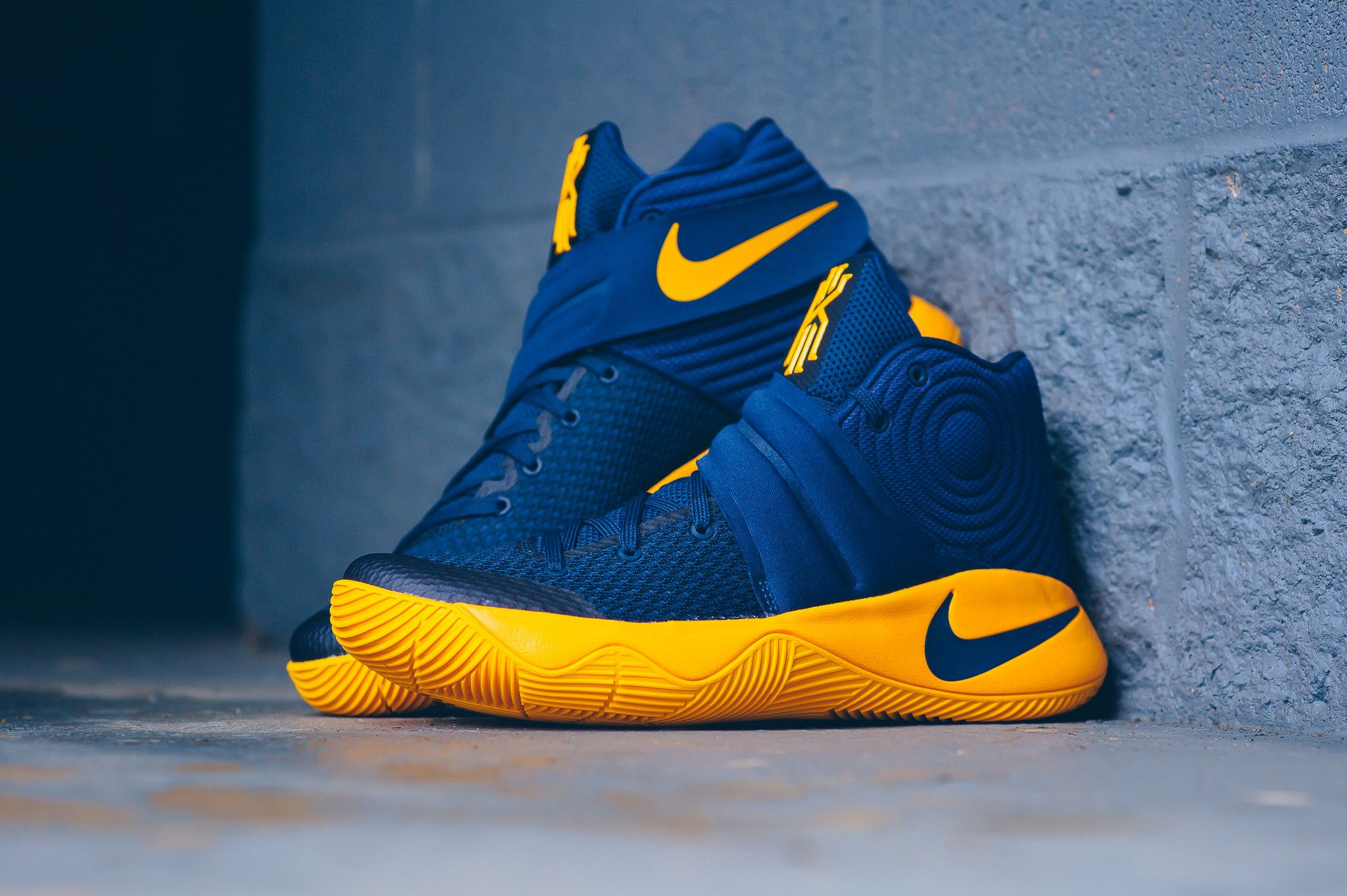 new style 274ed fffa3 Detailed images of the Nike Kyrie 2 Cavs are featured. Look for it at Nike  stores nationwide on May 19th for  120.