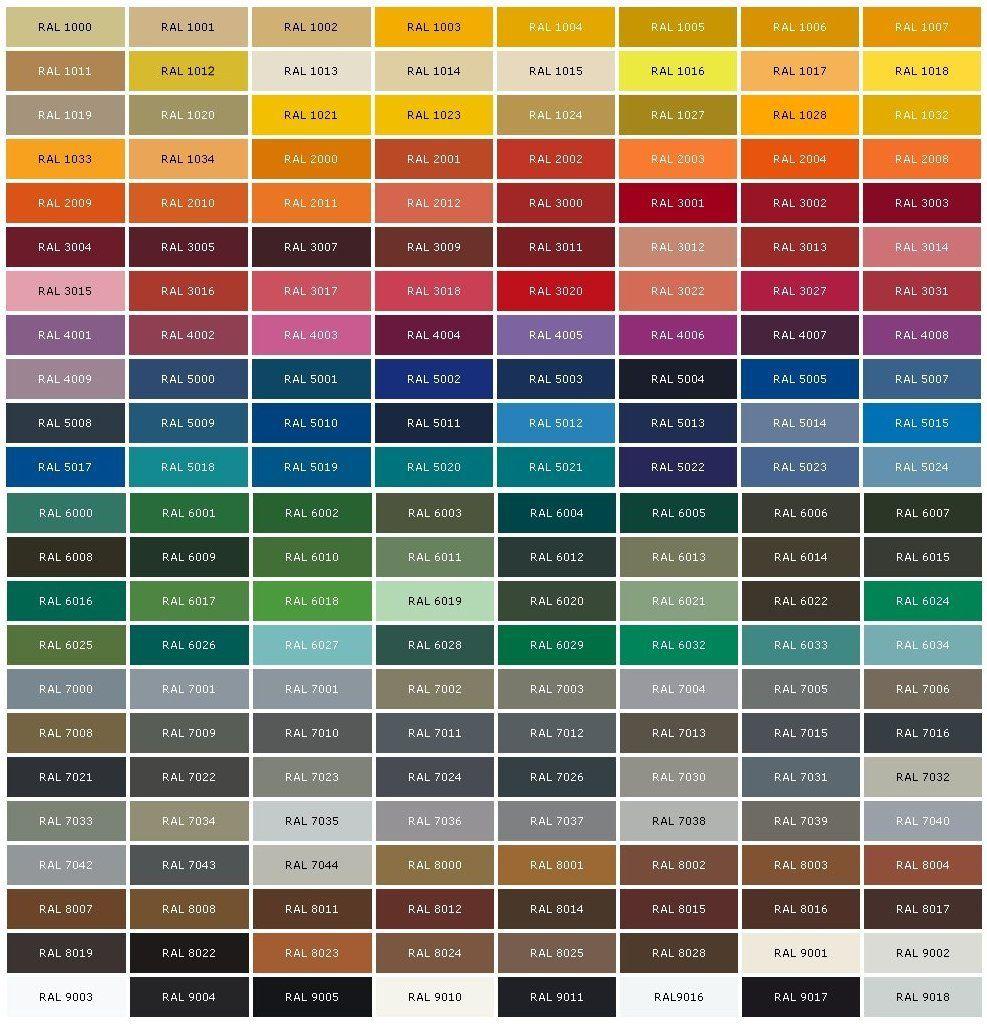 Tendenze colori pitture per pareti interne moderne. Tabella Colori Pareti Colore Ral 9016 Colori Ral Bianco Ral 7044 Grigio Seta