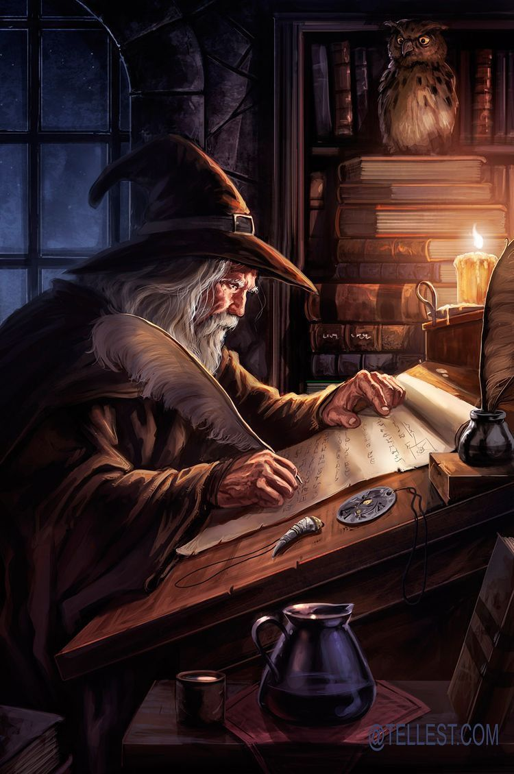 M Wizard Office Lab Night Fantasy Wizard Fantasy Art Fantasy