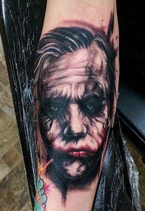 bc109e1c0f2f3 The Dark Knight/ Joker Tattoo (Heath Ledger) by Devin Zimmerman Horror  Movie Tattoos