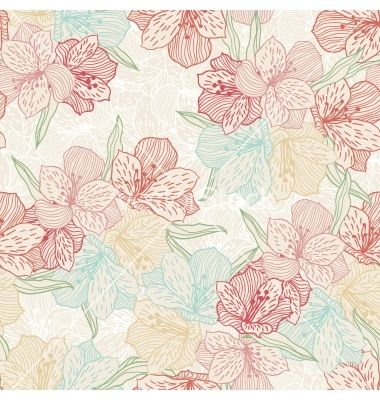 Abstract vintage seamless flower pattern with vector 1162117 - by incomible on VectorStock®