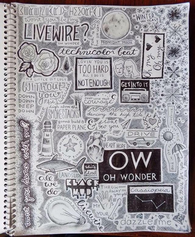 Oh Wonder Sketchbook 1 IG: @bethanyspaniel | Oh Wonder | Pinterest ...