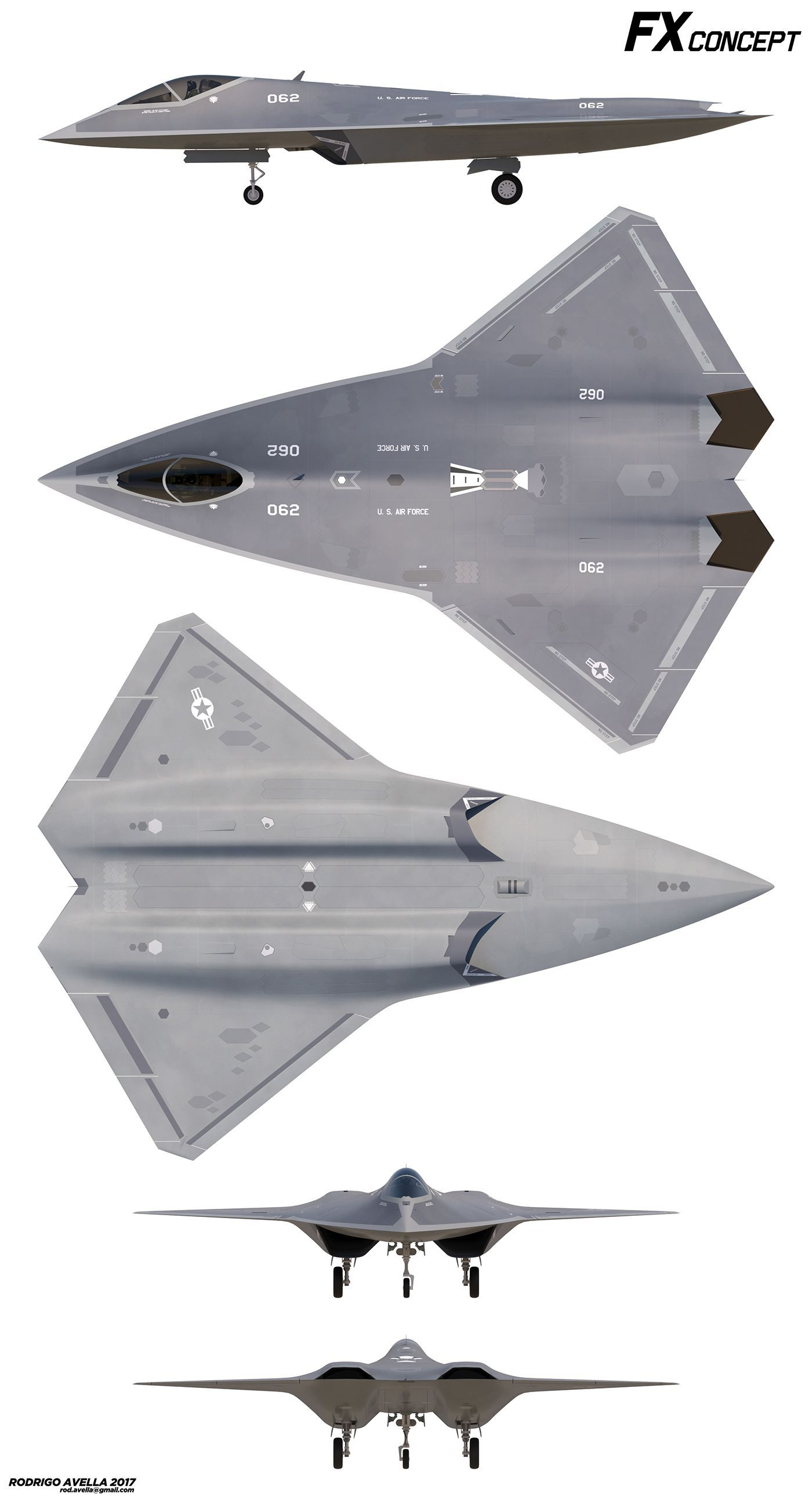Concept for a next generation air dominance stealth