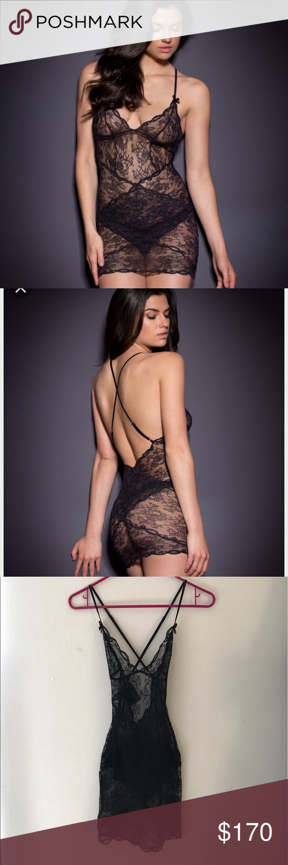 a8b8915836 NWT - Agent Provocateur Love slip in black Agent Provocateur s bestselling  Love range has been updated