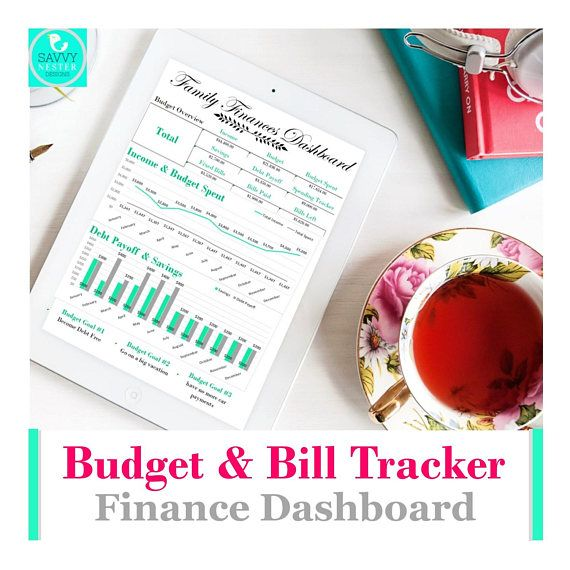 Excel budget bill pay tracker Monthly money management and Savvy