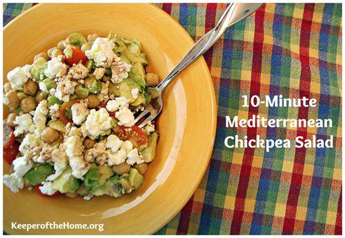 10-Minute Lunches: Mediterranean Chickpea Salad