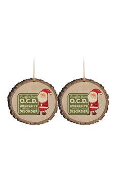 P. Graham Dunn Barky OCD Ornaments - Set of 2