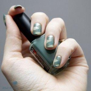 Green Braided Nails