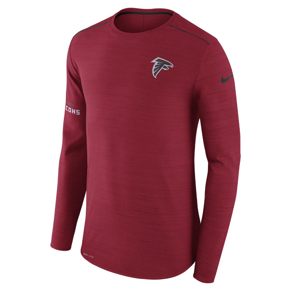 Nike Player (NFL Falcons) Men s Long Sleeve Top Size Medium (Red ... 99005ea0a