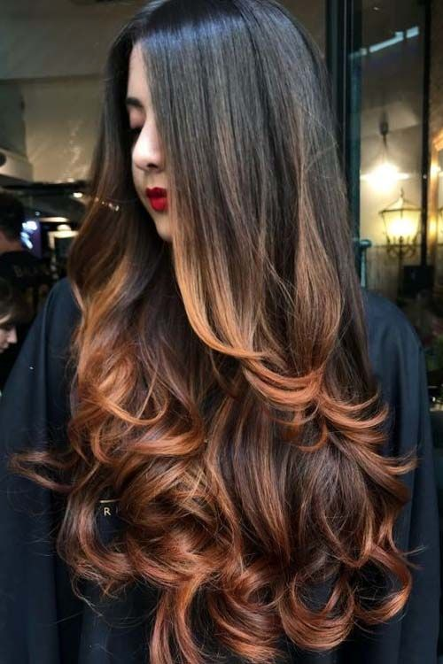 Brown To Caramel Tonesbalayage Hair Color Ideas Summer 2019 In 2019 Hair Perfect Hair Color Ombre Curly Hair