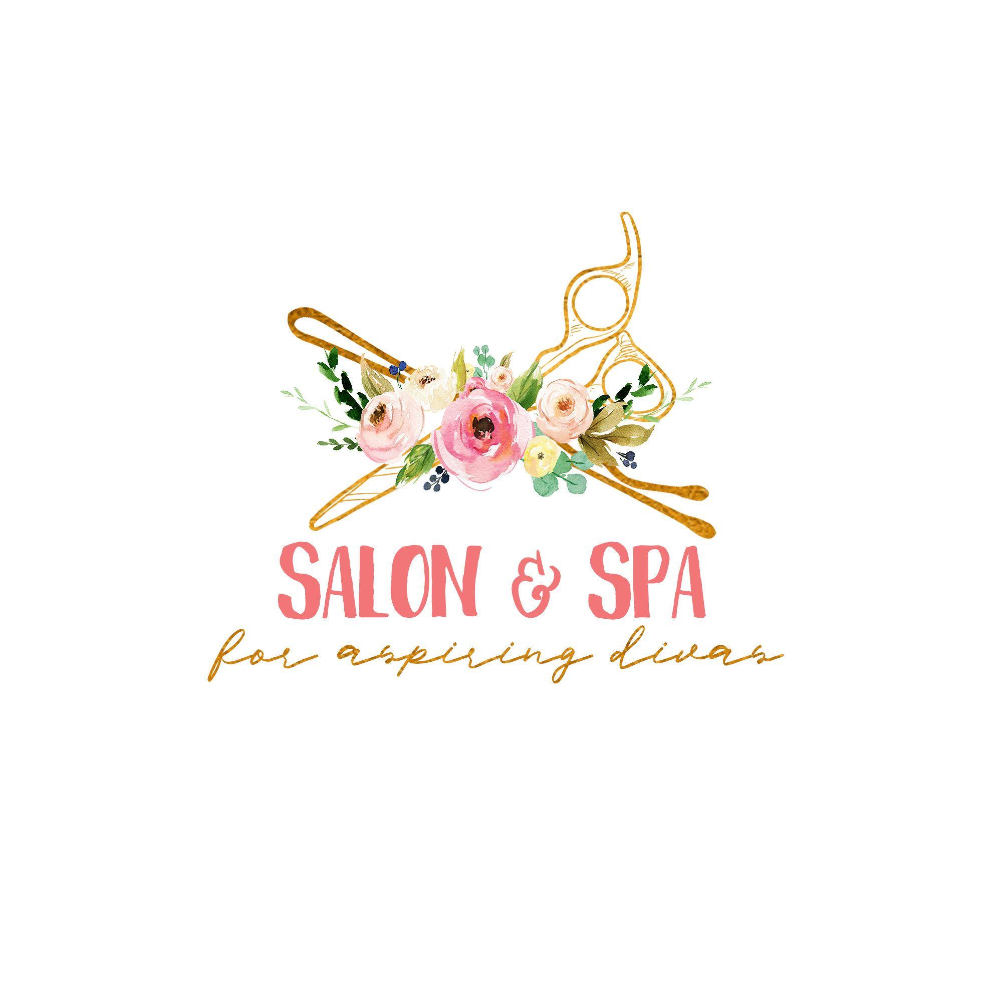 Premade Logo SALON SPA Premade Logo, Hair Logo Logo