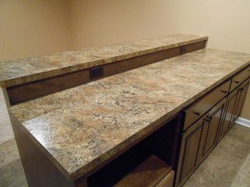 New Traditions Homes Basement Bar With Plastic Laminate