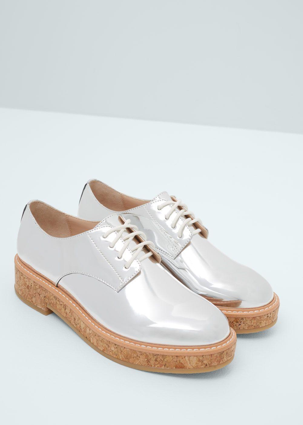 Sapato oxford metalizado | MANGO