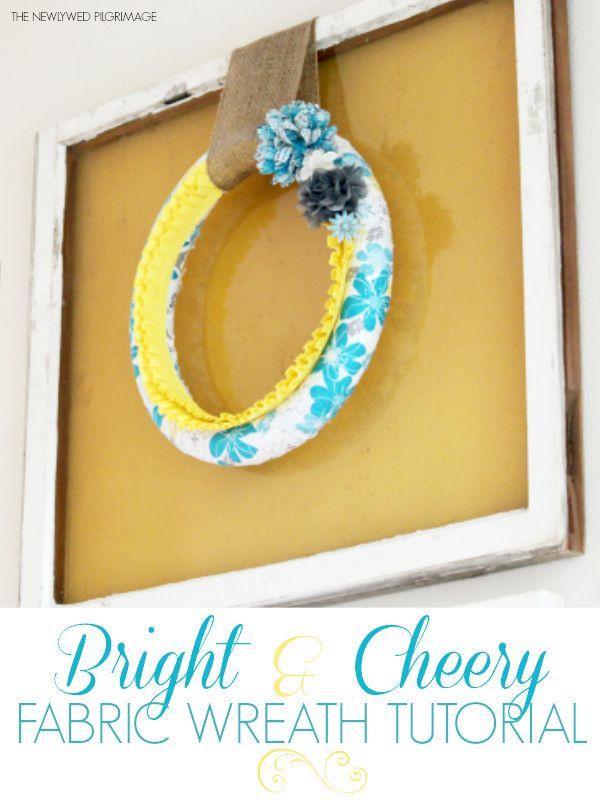 Photo of Bright & Cheery Fabric Wreath DIY