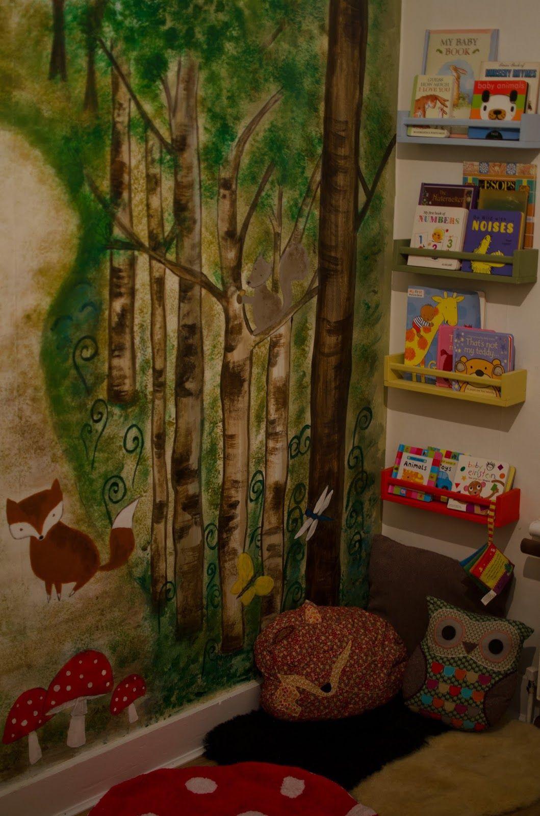 Nursery reading corner ikea spice racks for book shelves for Egouttoir mural ikea