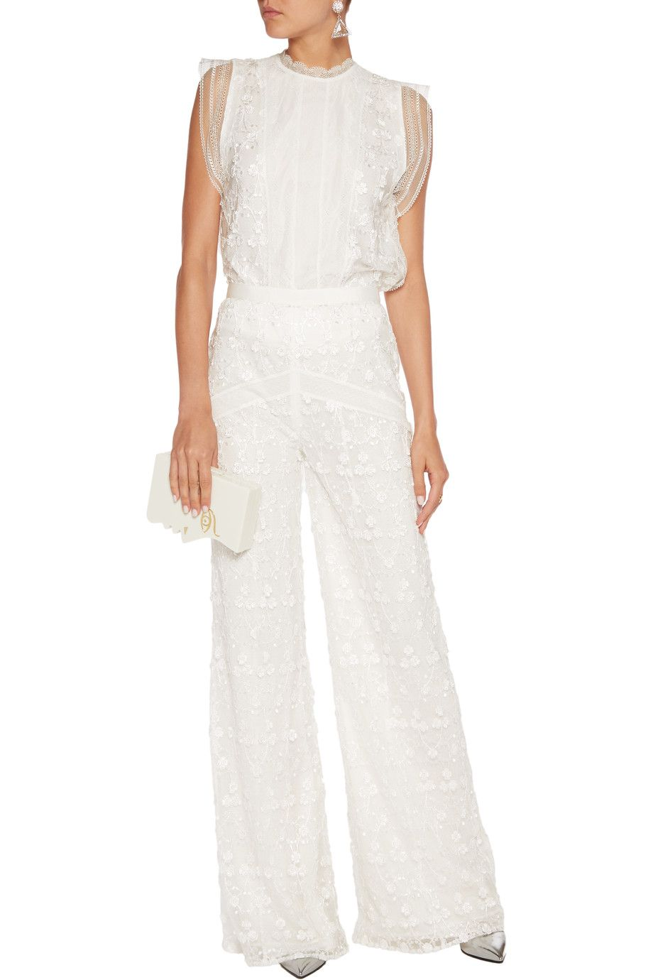 Shop on-sale Alexis Hari embroidered tulle wide-leg pants. Browse other discount designer Pants & more on The Most Fashionable Fashion Outlet, THE OUTNET.COM