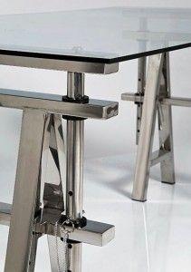 Caballetes De Metal Para Mesas.Mesas Con Caballetes Mesas De Cristal A Medida Mesa Sobre Calletes