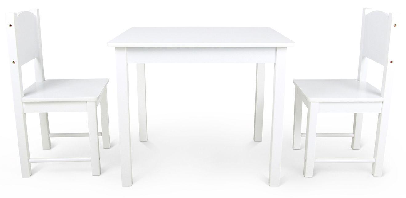 Woodlii Bord & Stolar Vit är ett komplett möbelsett i trä