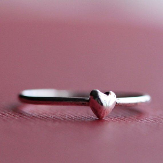 Wee silver heart ring.