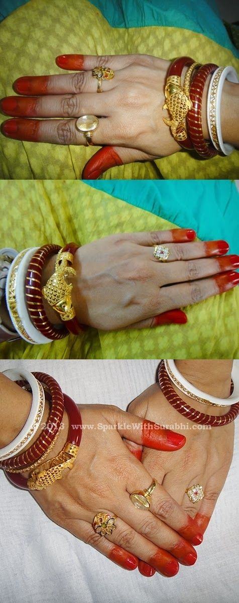 shankha pola with fish design from anjali jewellers | Wedding ...