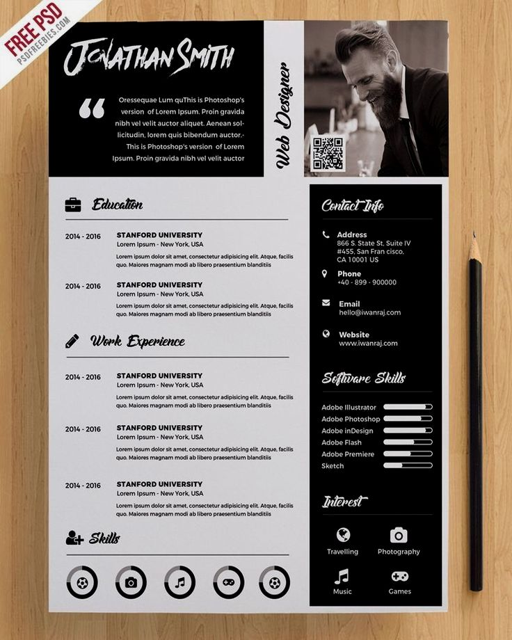 download premium resume template free psd  this premium