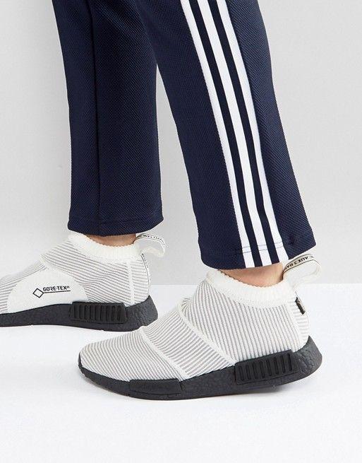 Adidas Originals NMD CS1 Goretex primeknit formadores en blanco by9404