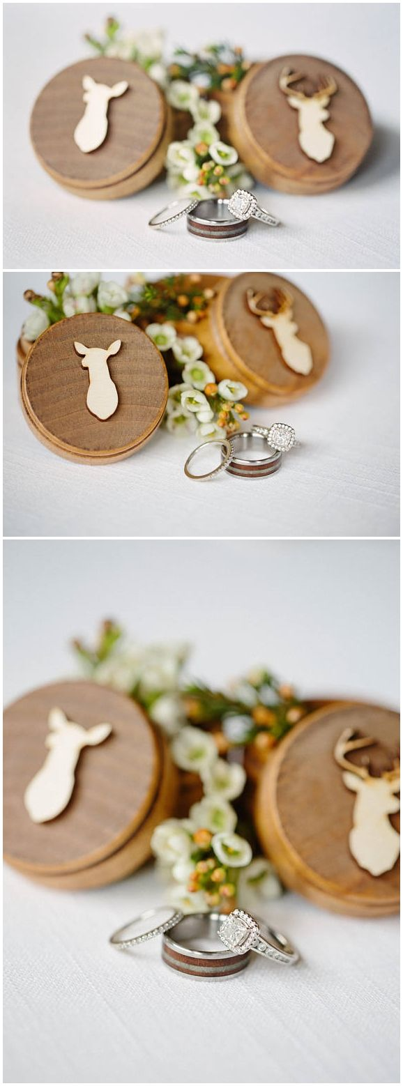 Buck and Doe Head Ring Box Set | Country Wedding | Camo Wedding ...
